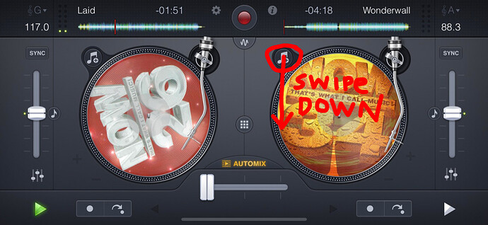 Swipe-Down